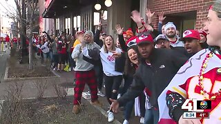 Chiefs fans arrive early at Power & Light