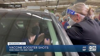 When will Arizona residents need a COVID vaccine booster?