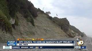 Del Mar City Council to decide on project repair bluffs
