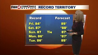 Breezy and warmer Thursday with record highs possible for the weekend