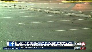 Death investigation outside a Publix