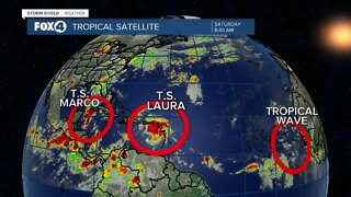 Tracking Two Tropical Storms