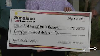 Sunshine Ace Hardware donates to Children's Miracle Network