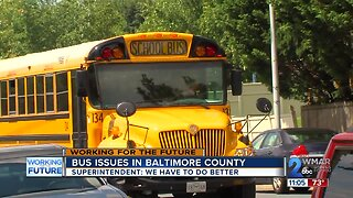 Bus issues in Baltimore County