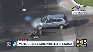Motorcycle rider killed in crash in Phoenix
