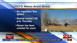 Arson suspect arrested for causing multiple grass fires in Tehachapi, Edison