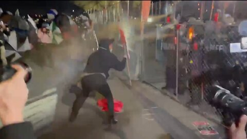 WATCH: Rioter Gets Showered with Pepper Spray in Brooklyn Center