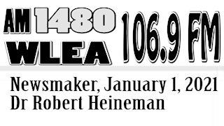 Newsmaker, January 1, 2021, Dr Robert Heineman