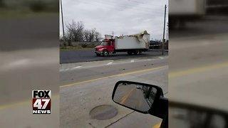 Truck Hits Bridge in Jackson