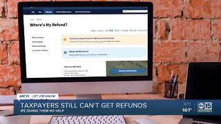 Taxpayers still cant get refunds from IRS