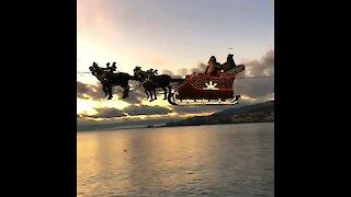 Santa Claus & his reindeer arrive in Switzerland