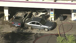 One injured in car fire at gas station in Chandler
