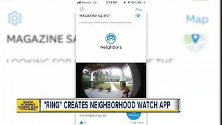 'Ring' creates neighborhood watch app