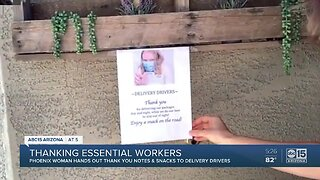 Finding ways to thank essential workers