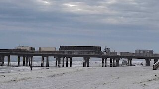 Semi Truck Backing Up On Pier