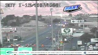 Crash near I-15 and Cheyenne Avenue.