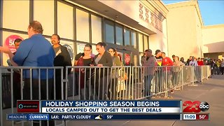Holiday shopping season begins