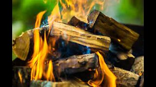 2 Hours of Burning Wood for Sleep Therapy Meditation Study