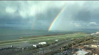 Beautiful rainbow dominates Ohio sky