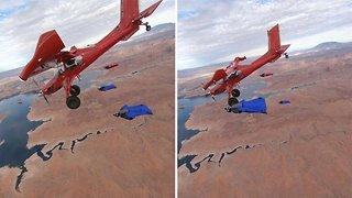 Amazing Wingsuit Pilots Soar Like Eagles Alongside The Wings Of A Plane