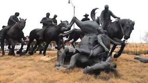 Family @ Centennial Land Run Monument, Oklahoma City