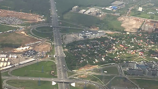 Landing to Moscow airport