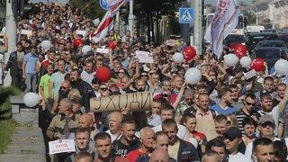 Belarus Protesters Demand President's Resignation
