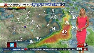 Kern County desert Wind Advisory overnight