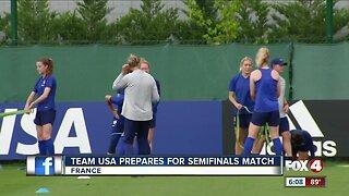 USA women's soccer team heads to semifinals match