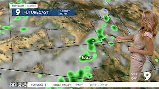 Strong winds, rain chances, and cooler air