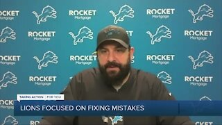 Lions focused on fixing mistakes after bye week