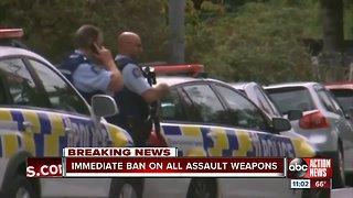 New Zealand bans all assault weapons immediately