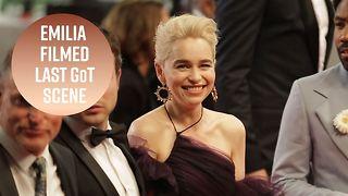 Emilia Clarke says emotional goodbye to Game of Thrones