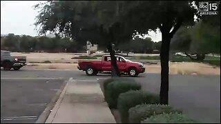 Viewer video shows crajacking suspect flee