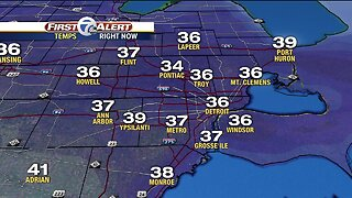 Chilly with rain increasing tonight