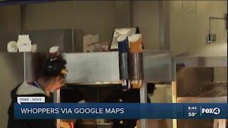 Order Burger King through Google