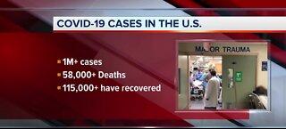COVID-19 cases in the U.S.