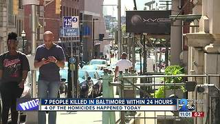 7 People Killed In Baltimore Within 24 Hours