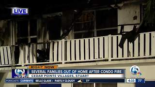 Several families displaced by large Stuart condo fire