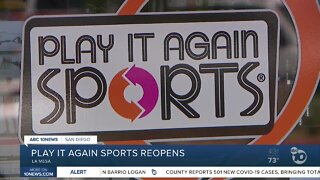 Play It Again Sports reopens in La Mesa after looting