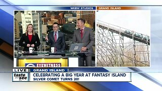 Celebrating a big year at Fantasy Island by riding the Silver Comet