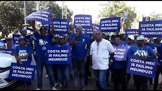 SOUTH AFRICA - KwaZulu-Natal - DA lead picket in PMB (Video) (rUp)