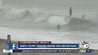 North County beaches reopen with restrictions