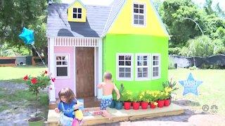Make-A-Wish Southern Florida gives 4-year-old girl new playhouse