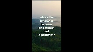 What is the difference between optimist and pessimist?