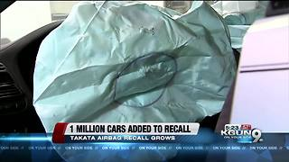 More than 1 million cars added to Takata airbag recall