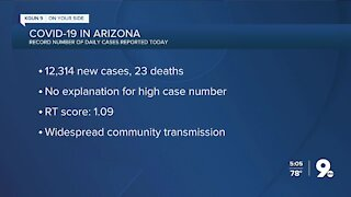 Arizona sets daily record with over 10K more virus cases