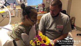 RAW: Woman marries boyfriend in hospital