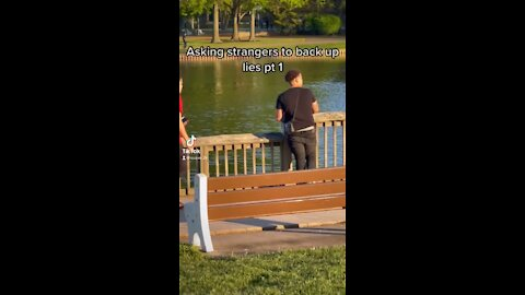 Man Asks Strangers To Lie For Him In Hilarious Video!