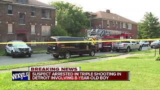 Suspect in custody after 3 people shot, including a child, on Detroit's west side